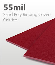 55mil Red Sand Poly Binding Covers