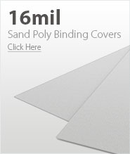 16mil White Sand Poly Binding Covers