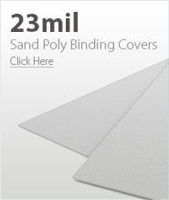23mil White Sand Poly Binding Covers