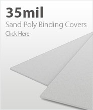 35mil White Sand Poly Binding Covers