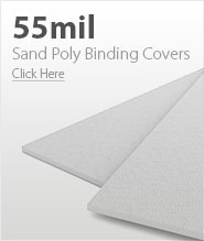 55mil White Sand Poly Binding Covers