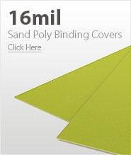 16mil Yellow Sand Poly Binding Covers