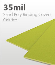 35mil Yellow Sand Poly Binding Covers