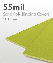 55mil Yellow Sand Poly Binding Covers