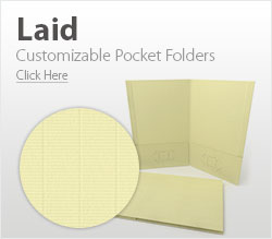 Customizable Laid Pocket Folders