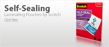 Scotch Self-Sealing Laminating Pouches