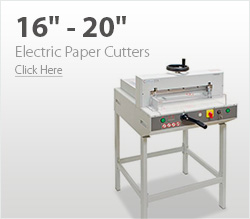 16& - 20& Electric Paper Cutters