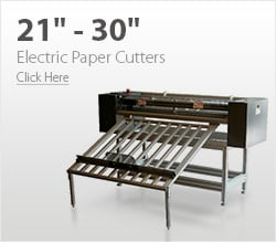 21& - 30& Electric Paper Cutters