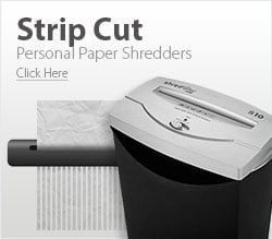 Personal Strip Cut Paper Shredders