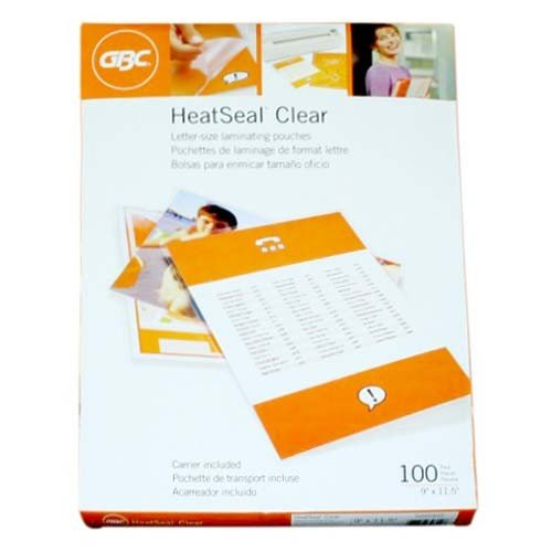 5mil GBC HeatSeal Clear Letter Size Laminating Pouches